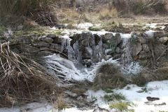 Frozen creek Royalty Free Stock Photo