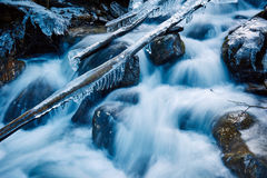 Frozen creek in winter Royalty Free Stock Photos