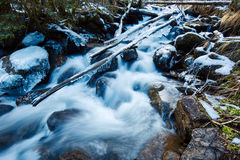 Frozen creek in winter Royalty Free Stock Image
