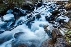 Frozen creek in winter Royalty Free Stock Image