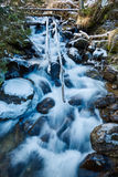 Frozen creek in winter Royalty Free Stock Photo