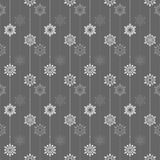 Frozen crystal Snowflake basic vertical line seamless pattern texture background in deep gray tone Stock Photos