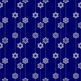 Frozen crystal Snowflake basic vertical line seamless pattern texture background in white and blue or Porcelain tone Stock Photos