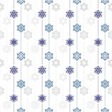 Frozen crystal Snowflake basic vertical line seamless pattern texture background in white and blue tone Royalty Free Stock Image