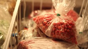 Frozen currant and meat stock video footage