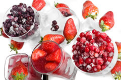 Frozen Currants And Strawberry Royalty Free Stock Photos