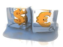 Frozen currency Stock Photo