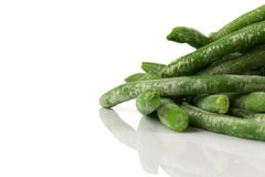 Frozen cut green beans vegetable Royalty Free Stock Images