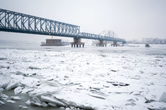 Frozen Danube River Stock Photos