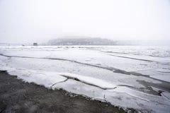 Frozen Danube River Royalty Free Stock Photo