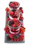 frozen dessert with berries Stock Photo