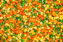 Frozen diced vegetables background Royalty Free Stock Photo