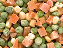 Frozen diced vegetables Stock Image