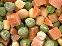 Frozen diced vegetables Stock Images