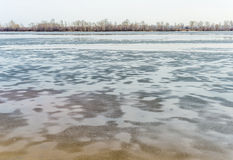 Frozen Dnieper River Royalty Free Stock Photo