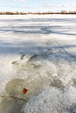 Frozen Dnieper River in Kiev, Ukraine, During Winter Royalty Free Stock Images