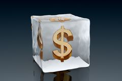 Frozen Dollar Royalty Free Stock Image