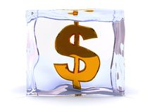 Frozen dollar Royalty Free Stock Images
