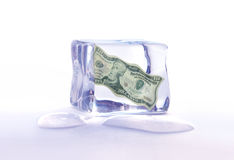Frozen dollar assets Stock Images