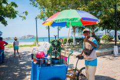 Frozen drink street vendor, Santa Marta, caribbean Stock Photos