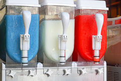 Frozen drinks dispenser. Frozen slush drinks maker and dispenser Stock Photography