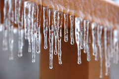 Frozen dripping water Royalty Free Stock Images