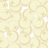 Frozen dumplings seamless patetrn. Vector ornament for food love Royalty Free Stock Photos