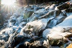 Frozen Eagle Falls Waterfall Stock Photos