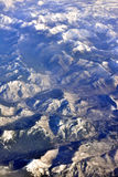 Frozen earth of North of America from sky Royalty Free Stock Photos