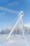 The frozen electric line Royalty Free Stock Photography