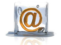 Frozen email Royalty Free Stock Photo