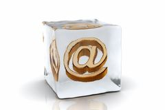 Frozen email Stock Photography