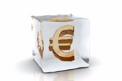 Frozen Euro Stock Images
