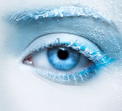 Frozen eye zone makeup Royalty Free Stock Photography