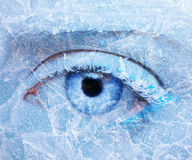 Frozen eye zone makeup Stock Image