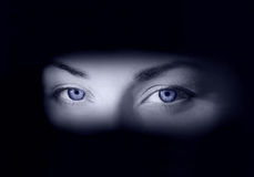 Frozen eyes. Deep-deep eyes Royalty Free Stock Photography