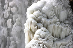 Frozen falling water. Stock Image