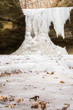 Frozen falls. Royalty Free Stock Photos