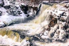 Frozen Falls Stock Images