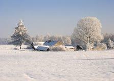 Frozen farm Royalty Free Stock Photos