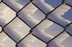Frozen fence Royalty Free Stock Photos