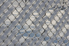 Frozen fence Stock Photo