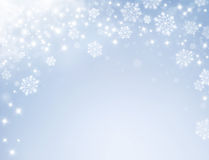 Frozen festive background Stock Photo