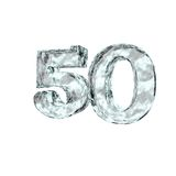 Frozen fifty. Frozen number fifty - 50 - on white background - 3d illustration Stock Images