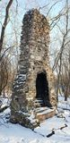 Frozen fireplace stock photography