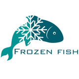 Frozen fish. Design for business Royalty Free Stock Photo