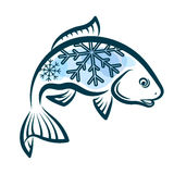 Frozen fish design. For sale Stock Photos