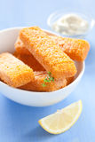 Frozen fish fingers Stock Image