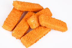 Frozen fish fingers. With white background Stock Image