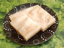Frozen fish. Some frozen salmon fish in blocks Royalty Free Stock Photo